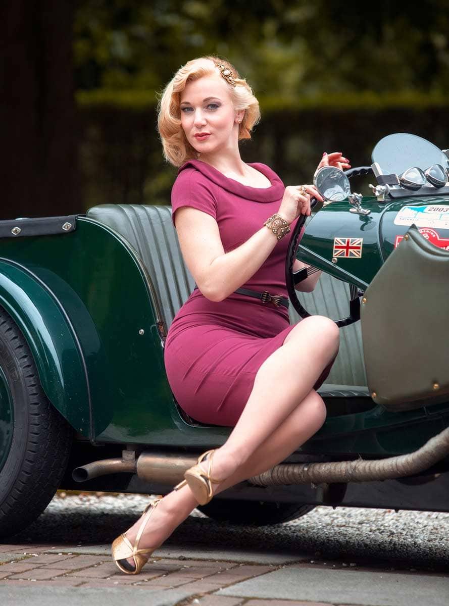 Eine Vintage Lady in einem Morgan 4/4 – Autofotograf Dortmund