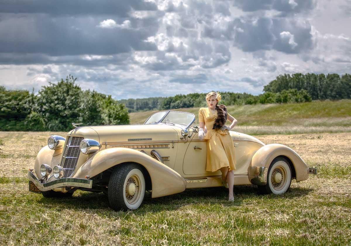Ausflug mit einem Auburn von 1936 – Autofotograf Dortmund