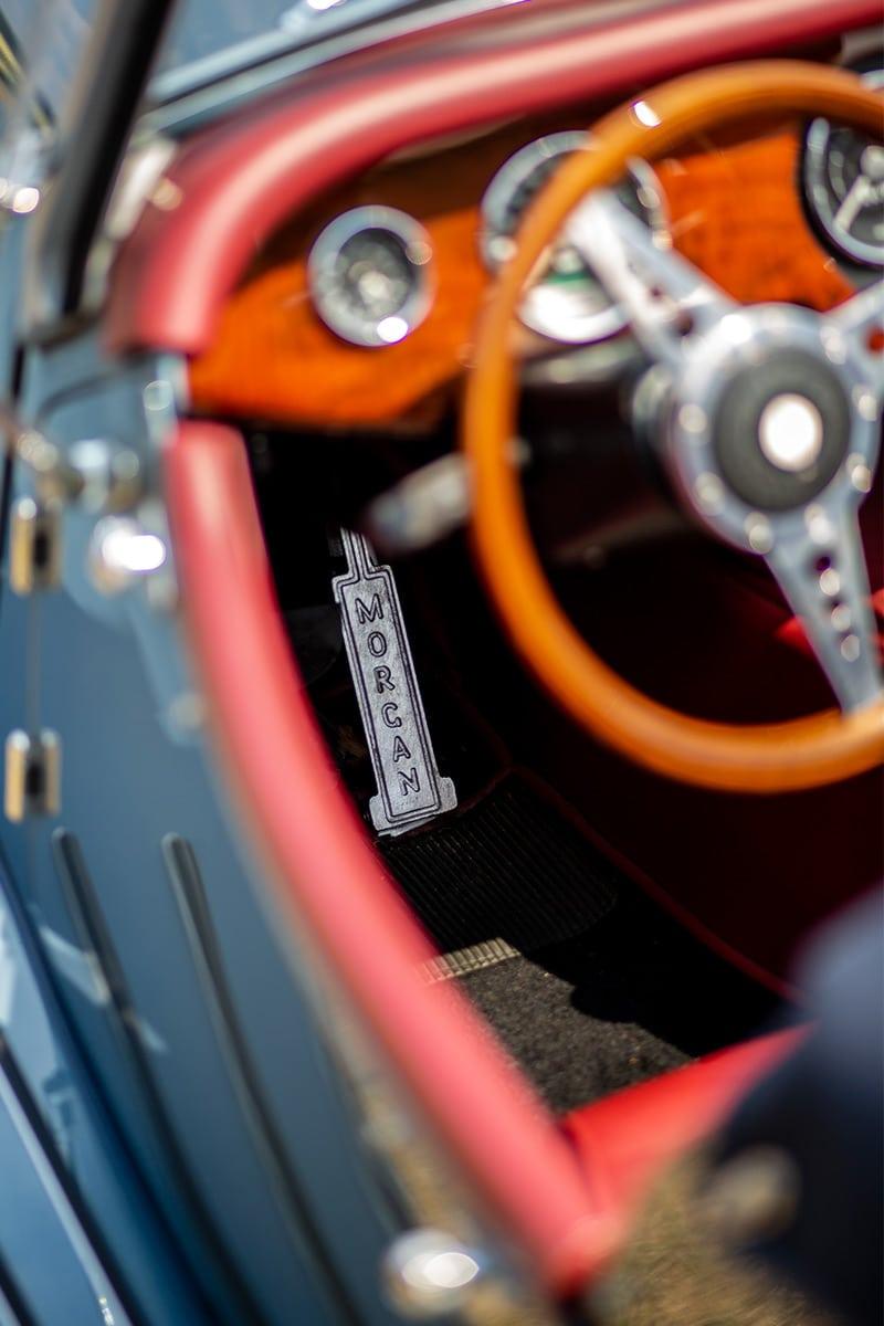 Lenkrad eines Morgan – Autofotograf Dortmund