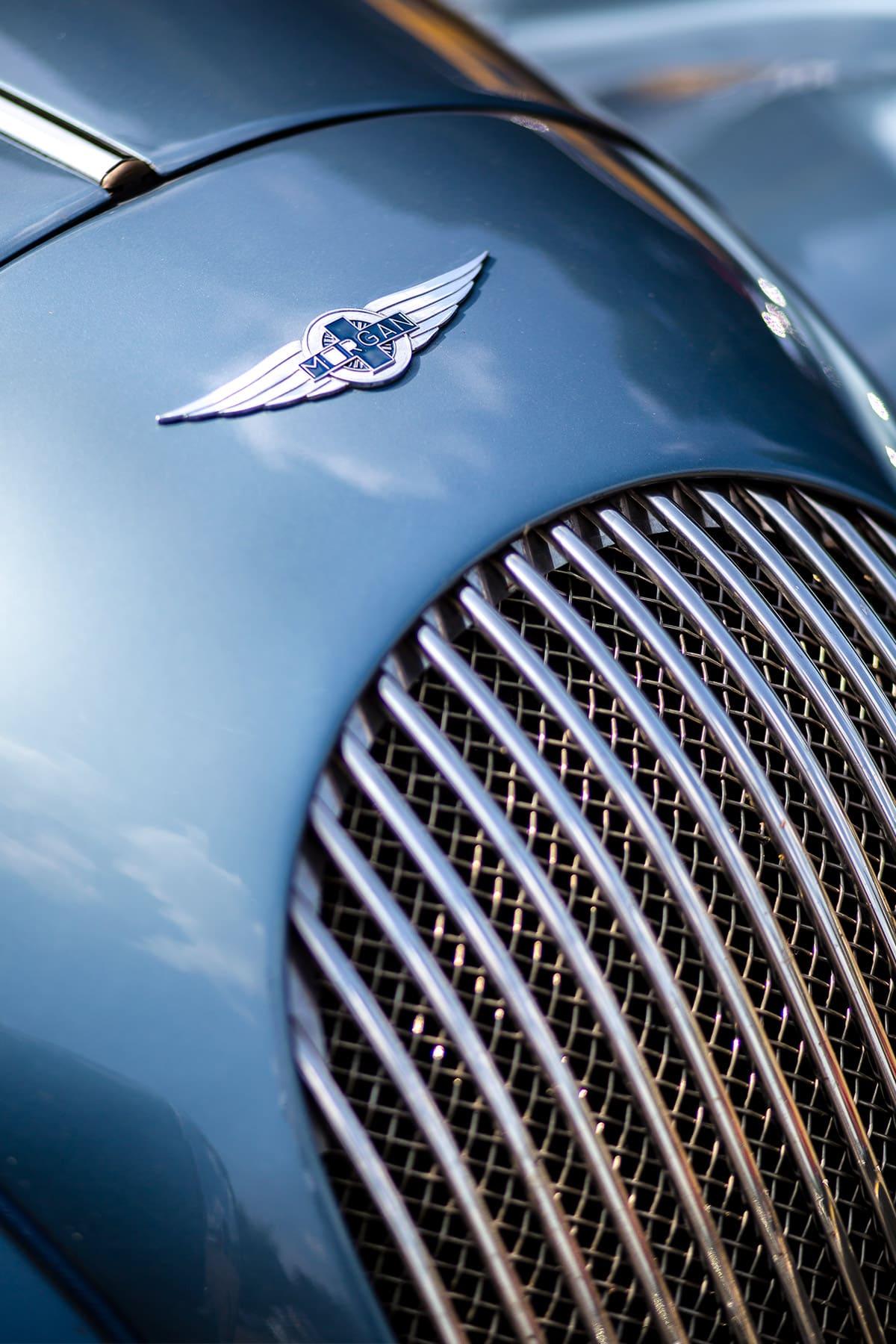 Kühlerhaube eines Morgan – Autofotograf Dortmund